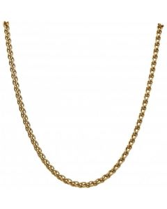 Pre-Owned 9ct Gold 17 Inch Fancy Woven Link Chain Necklace