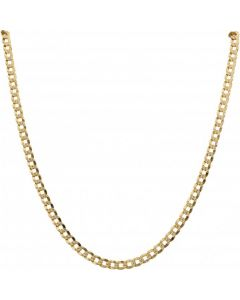 Pre-Owned 9ct Yellow Gold 26 Inch Patterned Curb Chain Necklace