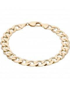 Pre-Owned 9ct Yellow Gold 8.8 Inch Curb Bracelet