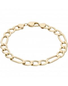 Pre-Owned 9ct Yellow Gold 9 Inch Figaro Bracelet