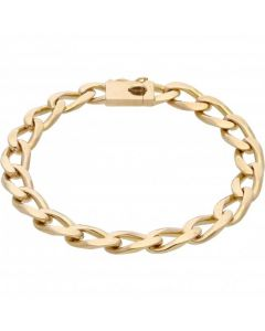 Pre-Owned 9ct Yellow Gold 8 Inch Oval Curb Bracelet