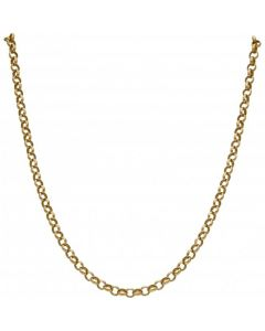 Pre-Owned 9ct Yellow Gold 19 Inch Belcher Chain Necklace
