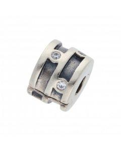 Pre-Owned Pandora Silver Gemstone Set Clip Charm