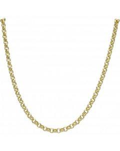 """New 9ct Yellow Gold 20"""" Soild Round Belcher Chain Necklace 29.5g"""