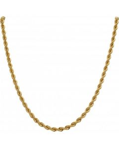 New 9ct Yellow Gold 20 Inch Hollow Rope Chain Necklace