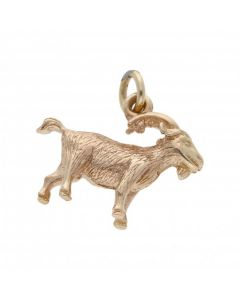 Pre-Owned 9ct Yellow Gold Solid Goat Charm