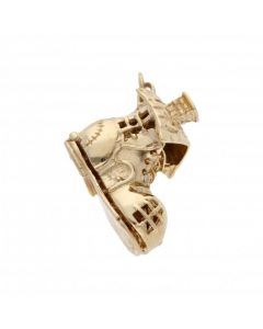 Pre-Owned 9ct Yellow Gold Opening Boot Charm