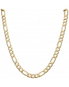 Pre-Owned 9ct Yellow Gold 21 Inch Figaro Chain Necklace