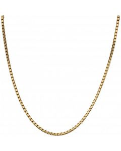 Pre-Owned 9ct Yellow Gold 22 Inch Box Link Chain Necklace