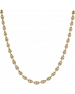Pre-Owned 9ct Gold 18 Inch Hollow Anchor Link Chain Necklace