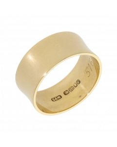 Pre-Owned 18ct Yellow Gold 8mm Concave Band Ring