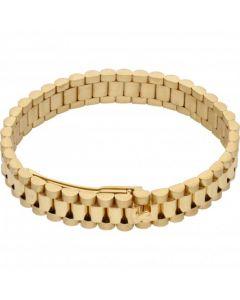 "New 9ct Yellow Gold 8"" Rolex Style Mens Bracelet 1.3oz"