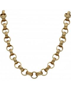 New 9ct Gold 26 Inch Heavy Solid Belcher Chain Necklace 4.oz