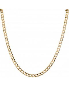 Pre-Owned 9ct Yellow Gold 17.5 Inch Curb Chain Necklace