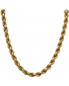 Pre-Owned 9ct Yellow Gold 16 Inch Chunky Rope Chain Necklace