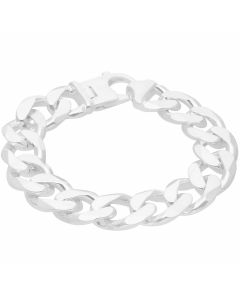 New Sterling Silver 9 Inch Heavy Solid Curb Bracelet 3.1oz