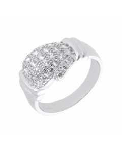 New Sterling Silver Cubic Zirconia Boxing Glove Ring