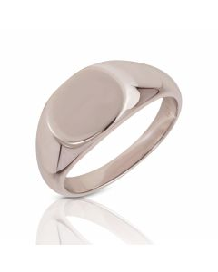 New Sterling Silver Gents Oval Signet Ring