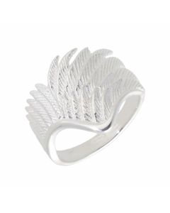 New Sterling Silver Angel Wing Ring
