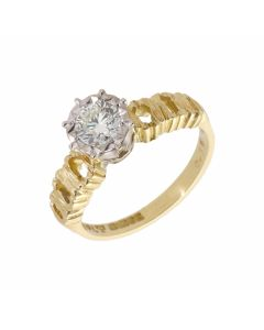 Pre-Owned 18ct Gold Vintage 0.56 Carat Diamond Solitaire Ring