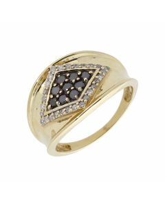 Pre-Owned 9ct Gold 0.50 Carat Black & White Diamond Dress Ring