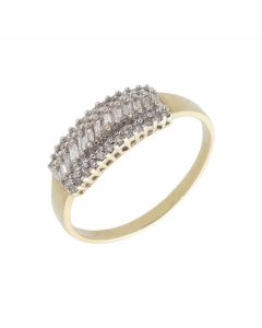 Pre-Owned 9ct Gold 0.50 Carat Mixed Cut Diamond Dress Ring