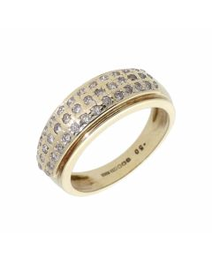 Pre-Owned 9ct Gold 0.50 Carat Diamond Set Multi Row Band Ring