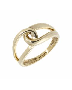 Pre-Owned 9ct Yellow Gold Loops Linked Dress Ring