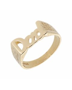 Pre-Owned 9ct Yellow Gold Dad Ring