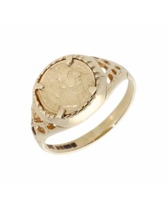 Pre-Owned 9ct Yellow Gold Childs Coin Style Dress Ring