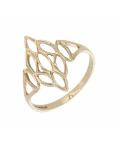 Pre-Owned 9ct Yellow Gold Cutout Dress Ring