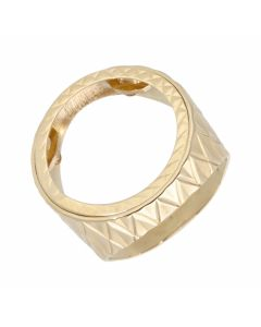 Pre-Owned 9ct Yellow Gold Half Sovereign Coin Ring Mount