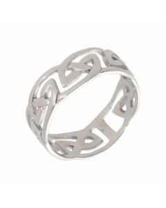 Pre-Owned 9ct White Gold Celtic Band Ring