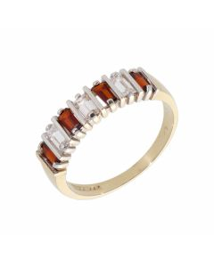 Pre-Owned 9ct Yellow Gold Multi Cubic Zirconia Set Dress Ring