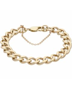 Pre-Owned 9ct Yellow Gold 8 Inch Heavy Curb Bracelet