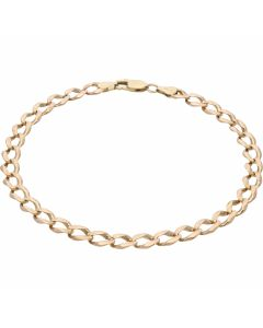 Pre-Owned 9ct Yellow Gold 10.8 Inch Curb Bracelet