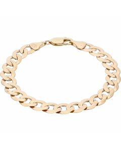 Pre-Owned 9ct Yellow Gold 8 Inch Curb Bracelet