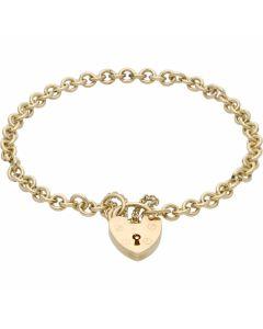 Pre-Owned 9ct Gold Belcher Link Charm Style Starter Bracelet