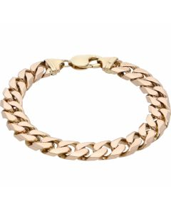 Pre-Owned 9ct Yellow Gold 8.8 Inch Heavy Curb Bracelet