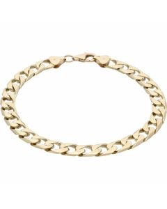 Pre-Owned 9ct Yellow Gold 9.1 Inch Curb Bracelet