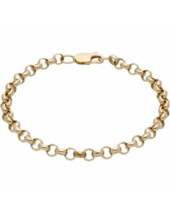 Pre-Owned 9ct Yellow Gold 7.5 Inch Belcher Bracelet