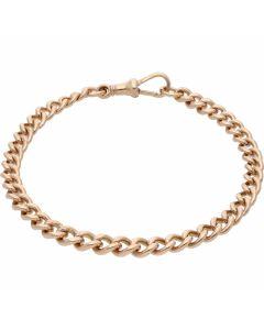 Pre-Owned 9ct Rose Gold 8 Inch Albert Bracelet