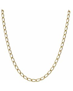 Pre-Owned 9ct Yellow Gold 20 Inch Oval Curb Chain Necklace