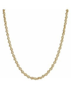 Pre-Owned 9ct Yellow Gold 18 Inch Fancy Twist Chain Necklace