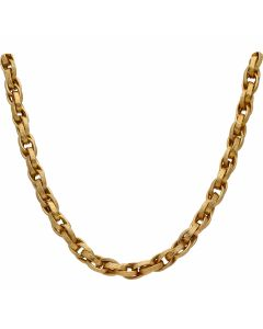 Pre-Owned 9ct Yellow Gold 18 Inch Patterned P.O.W Chain Necklace