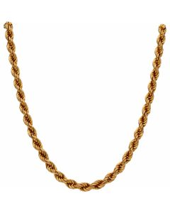 Pre-Owned 9ct Yellow Gold 18 Inch Hollow Rope Chain Necklace