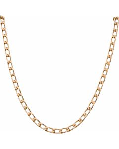 Pre-Owned 9ct Yellow Gold 24 Inch Oval Curb Chain Necklace