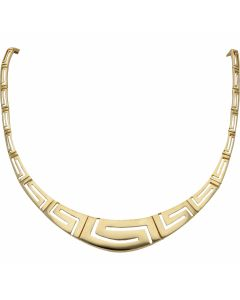Pre-Owned 14ct Yellow Gold 18 Inch Greek Key Link Necklet
