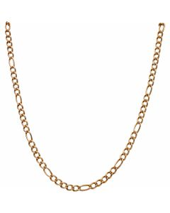 Pre-Owned 9ct Gold 25 Inch Hollow Figaro Chain Necklace