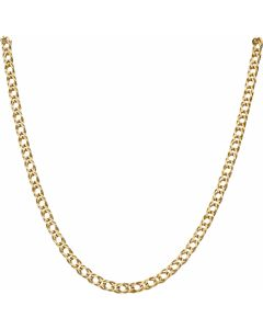 Pre-Owned 9ct Yellow Gold 24 Inch Double Curb Chain Necklace
